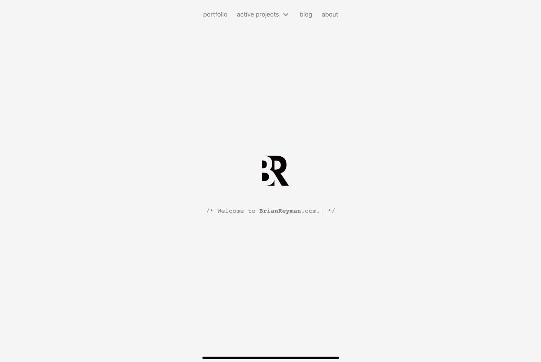 Brian Reyman's Web site Home